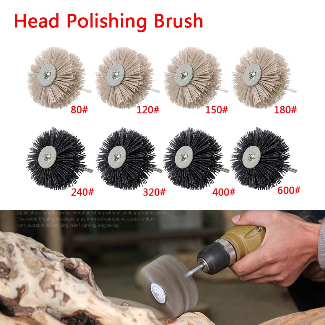 Bright Wood Working Drill Brush Finishing Abrasive Wire Nylon Radial Polishing Brush Cleaning Products