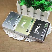 Caja de cigarrillos con encendedor inflable, caja de cigarrillos con personalidad creativa, puede poner 10 cigarrillos