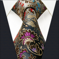 2016 new high quality British retro style vintage silk tie men gift box all-match neck tie extra long for men