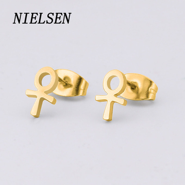 Nielsen New Stainless Steel Boys S Symbolic Personality Temperament Fine Needle Earrings Anti Allergic Jewelry