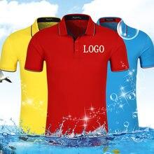 499a30804 New Top Polo T-shirt Mens High-end Collar Short Sleeve Shirt Embroidery  LOGO Clothes Custom Team Sportswear Golf T-shirt Dry Fit