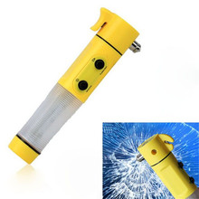 New Car Accessory 4 in 1 Emergency Safety Tool Window Breaker Hammer Flashlight Torch