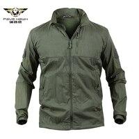 Quick Dry Waterproof Lightweight Tactical Skin Jacket Men Summer Camouflage Army Military Jacket Hooded Windbreaker Rain Coat