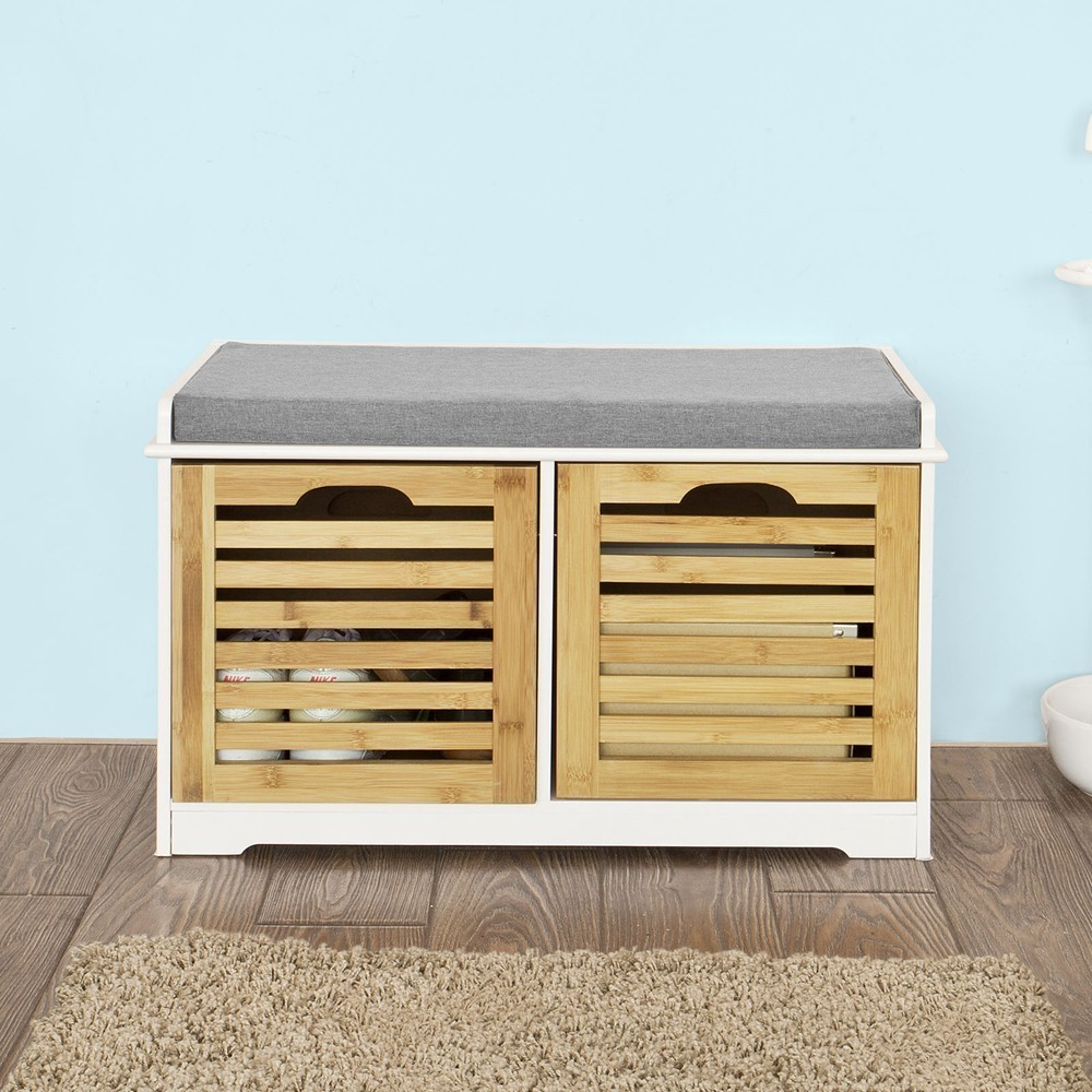 Removable, SoBuy, Bench, Seat, Drawers, Shoe