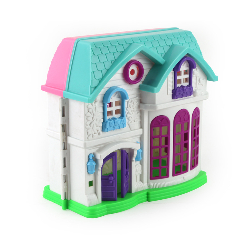Online Shop DIY Portable Mini Doll House Castle 2 Floors Backyard  Playground And Furniture Preps Pretend Toy For Girls Play Figurines Room |  Aliexpress ...