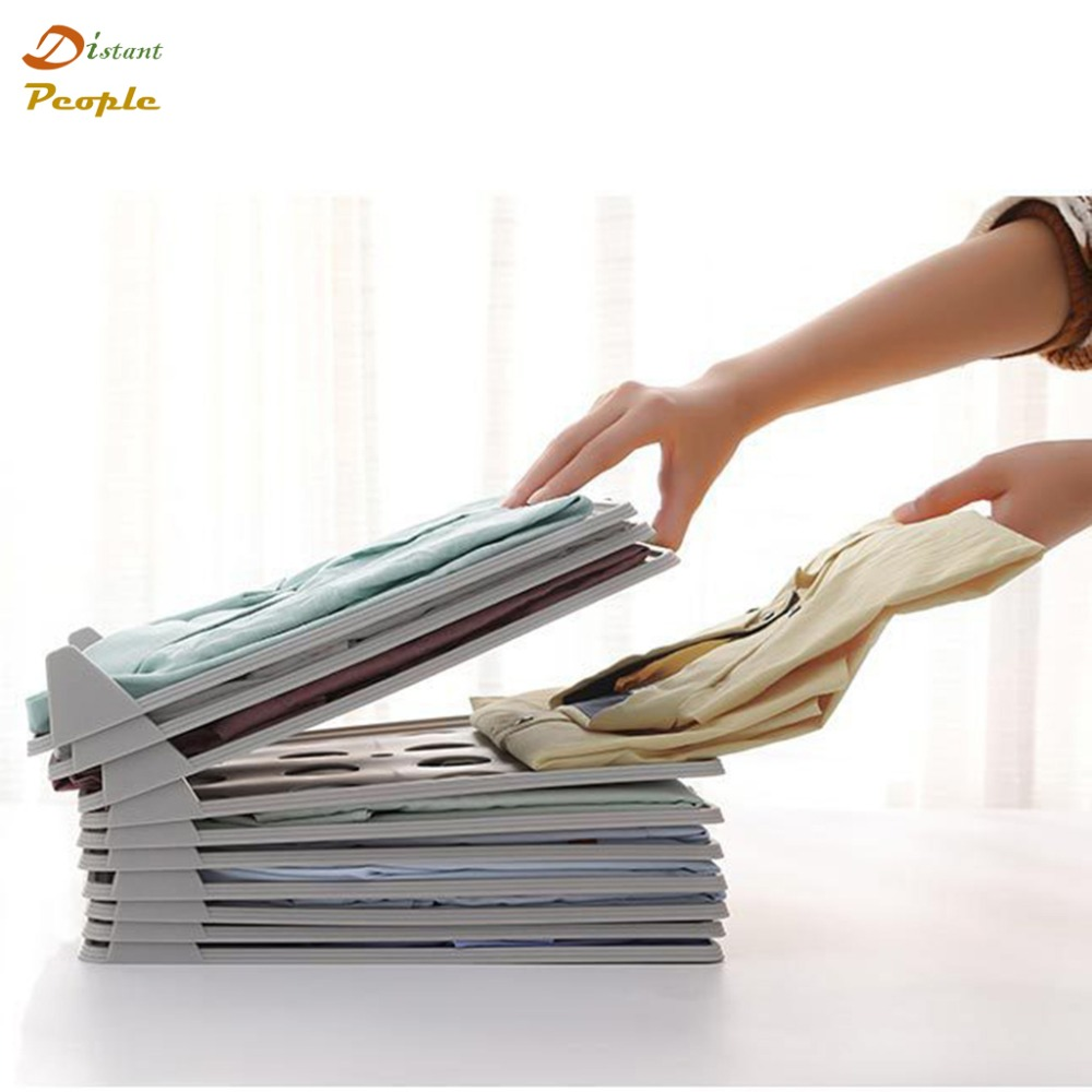 1pcs Multifunctional Durable Plastic Clothes Storage Fold Board Magic Fast Speed T-<font><b>Shirt</b></font> Clothes Blouse <font><b>Organizer</b></font> image