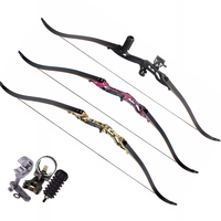 30 50lbs Recurve Bow 56 Inches American Hunting Bow In 3 Color With 17 Inches Riser