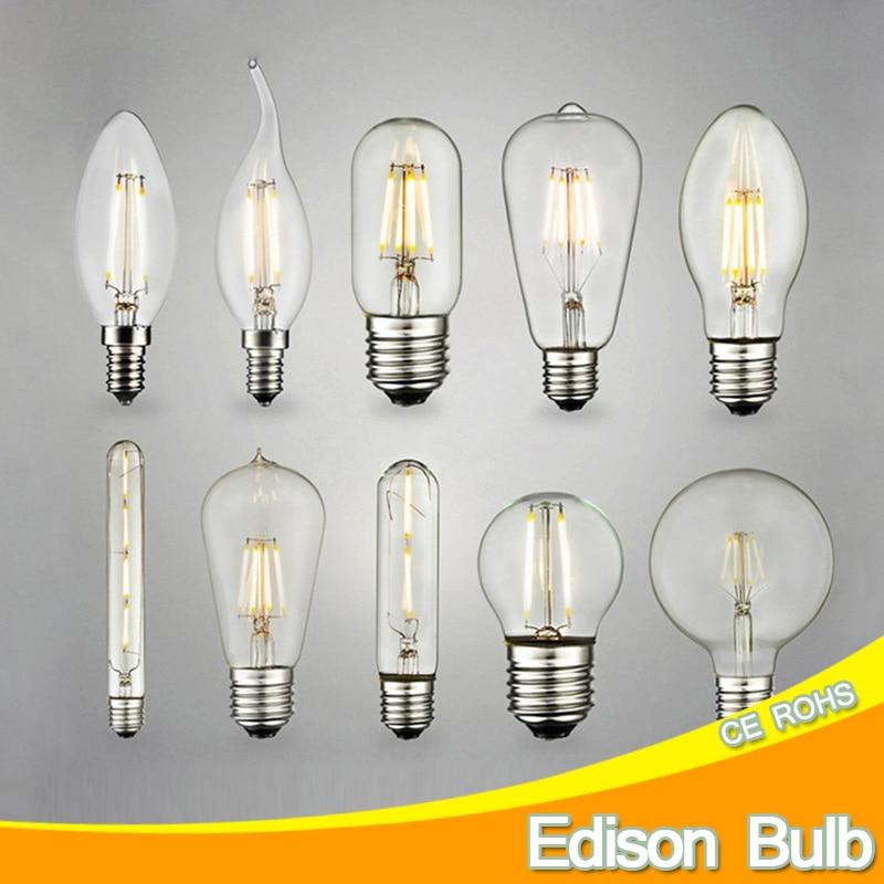 Retro Antique Led Edison Bulb E14 E27 Ampoule Vintage Led Filament Light Lampada 220v Led Energy Saving Lamp Candle Lights bulb
