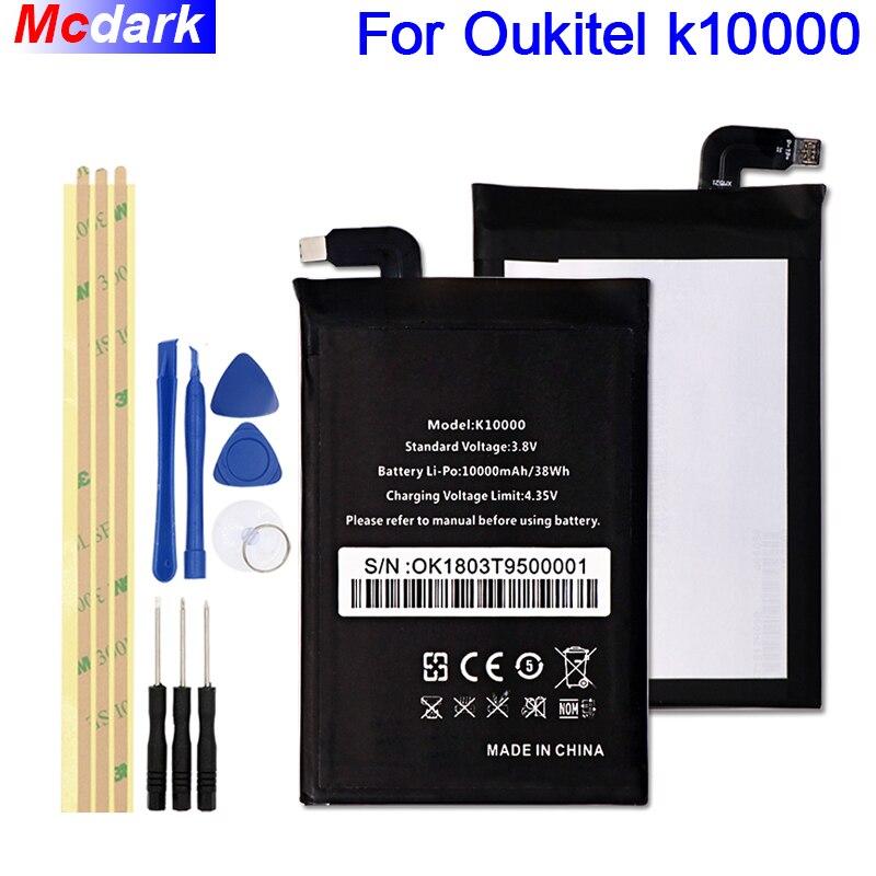 Für Oukitel k10000 Batterie Mit Großer Kapazität 10000 mAh Batterie Bateria Batterie-akkumulator + Werkzeuge