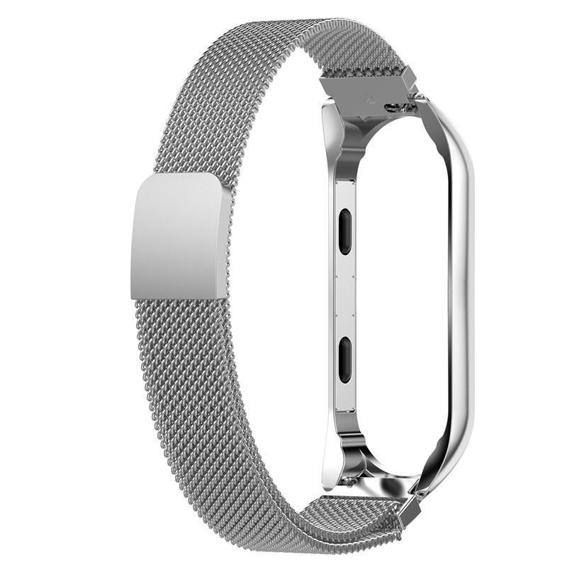Bracelet for xiaomi mi band 3 Replacement Band Steel Magnetic Loop Smart Wrist Strap for Xiaomi Mi Band 3 Watch mi band 3 Strap in Smart Accessories from Consumer Electronics