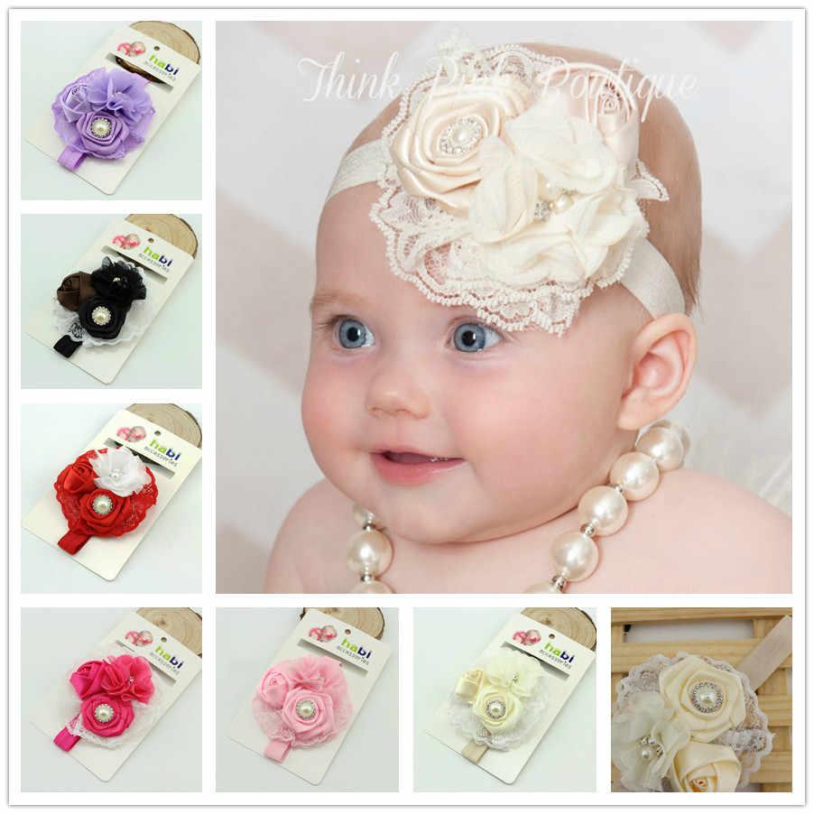 Hair Accessories Turban Toddler Lace Hair Band Baby Headband Headwear Bow Pearl