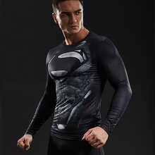 Superman Compression Shirts Men 3D Printed T-shirts Long Sleeve Cosplay Costume crossfit fitness Clothing Tops Male Black Friday(China)