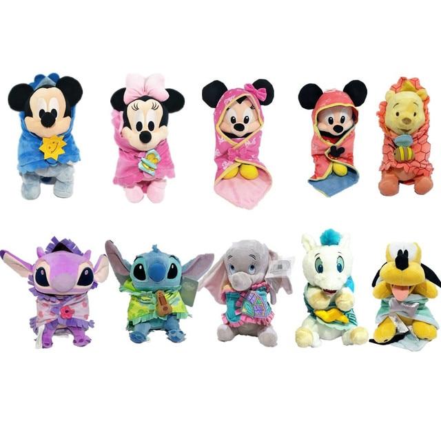1 peças/lote 25 cm de pelúcia do bebê minnie mickey pateta pluto dumbo pegasus liloitch stdoll mouse edição de Casamento brinquedos para Crianças brinquedos