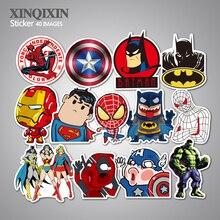 40PCS Super Hero Stickers for kids laptop car decal fridge skateboard Batman Superman Hulk Iron Man sticker Children stickers