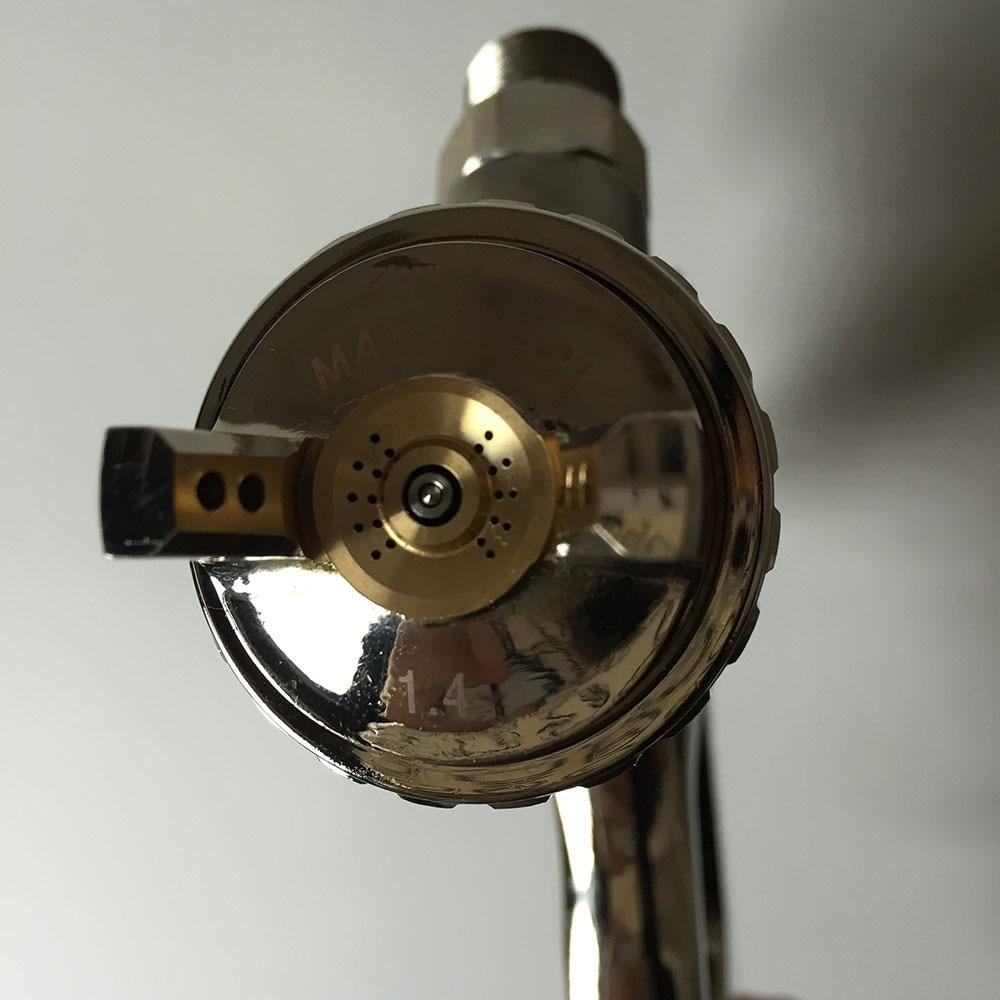 SAT0083 free shipping chrome paint spray paint gun high pressure compressed air hvlp pneumatic spray gun