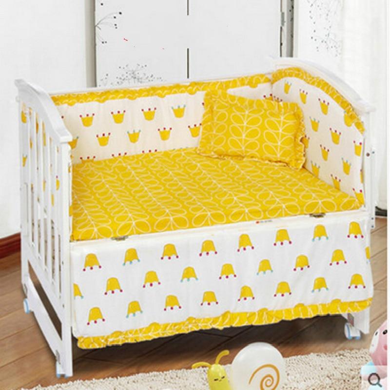 5 шт./компл. детское постельное белье 100% хлопок детские постельное белье мультфильм кроватки постельные принадлежности включают Подушка ба... ...