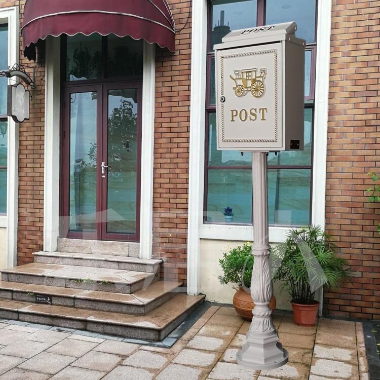 Вертикальный почтовый ящик из алюминиевого сплава вертикальный металлический ящик для почтовыx писeм деревенский почтовый ящик садовый уличная поставка
