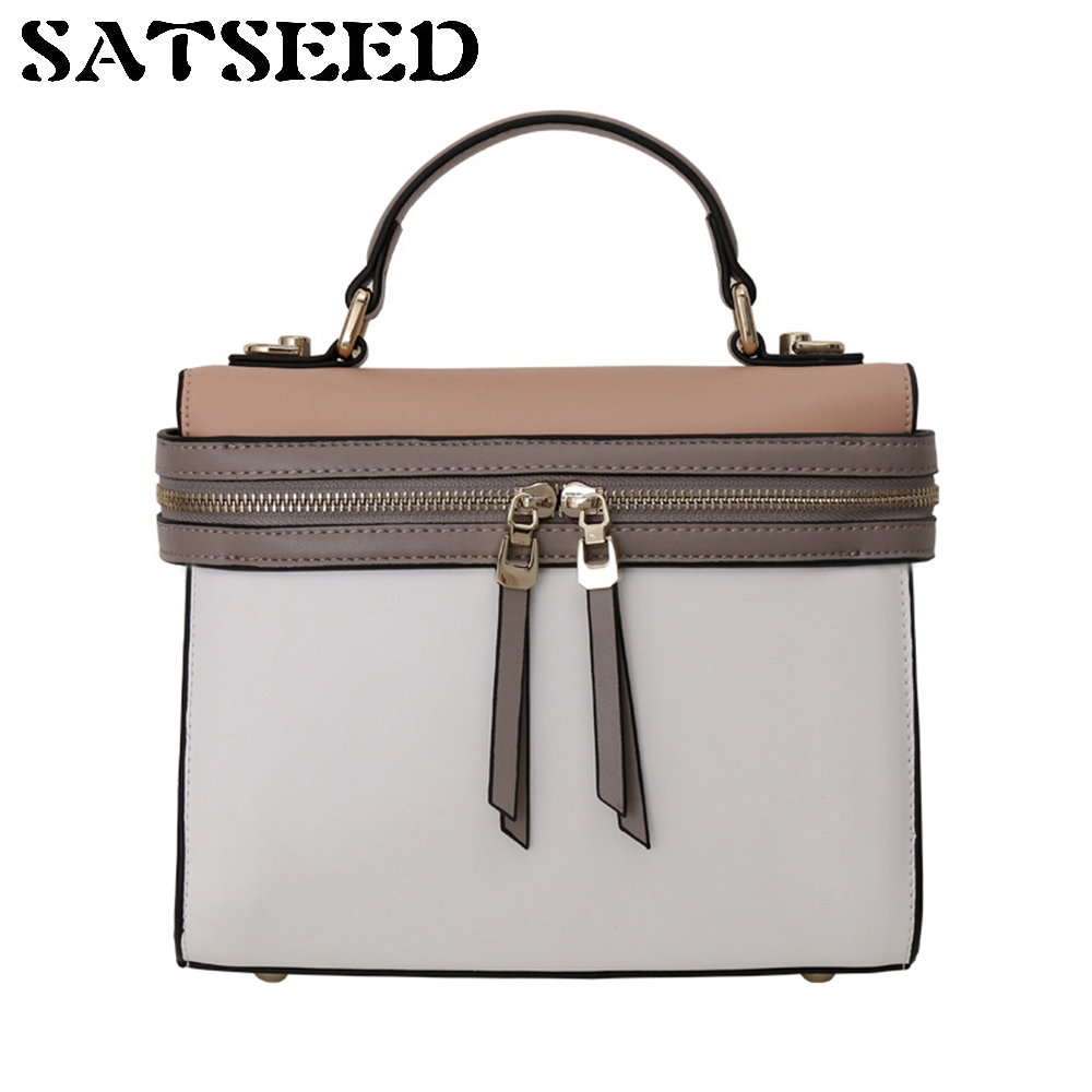 Women Bag 2017 Europe United States Genuine Leather Oblique Shoulder Crossbody Bag Leisure Portable Fashion New noosion modern led ceiling lamp for bedroom room black and white color with crystal plafon techo iluminacion lustre de plafond