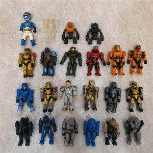 20 pièces 5CM Halo Wars guerriers monstres humains spartiates jeux alliances pistolets soldats blocs de construction briques jouets pour enfants