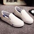 Новый сплошной цвет холст обувь Модно шутник белый обуви Студентов ленивый женский бахилы с телевизор с ног обувь