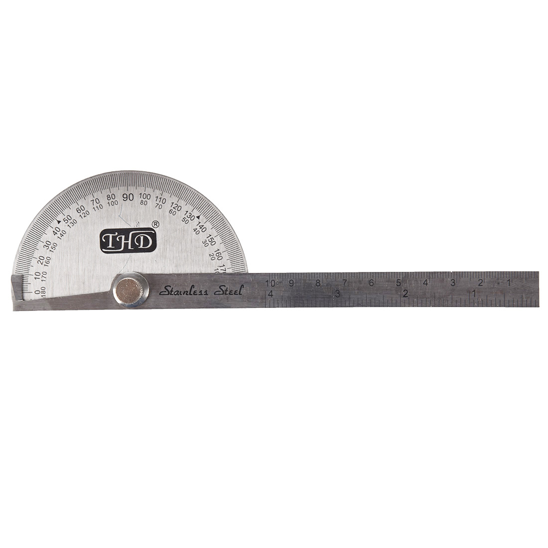 Stainless Steel Protractor W 10 Cm Measurement Ruler