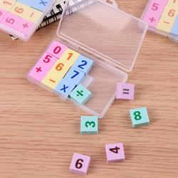 15PCS/box Creative Number Pencil Rubber Erasers for Office School Stationery Supplies Papelaria Gift For Kids