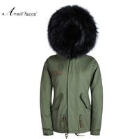 2015 new men warm winter coat fashion fur parka design new arrival fur of lining green and black furs with hooded coat