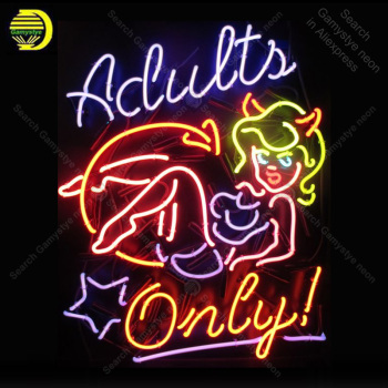 Adults only with Girls Neon Sign Bulb Handcrafted Iconic Sign light Neon Art Lamps Sign store display advertise enseigne lumine