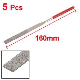 2 Piece Uxcell Jewelry Flat Diamond Needle Files Grinding Tool 160mm Long