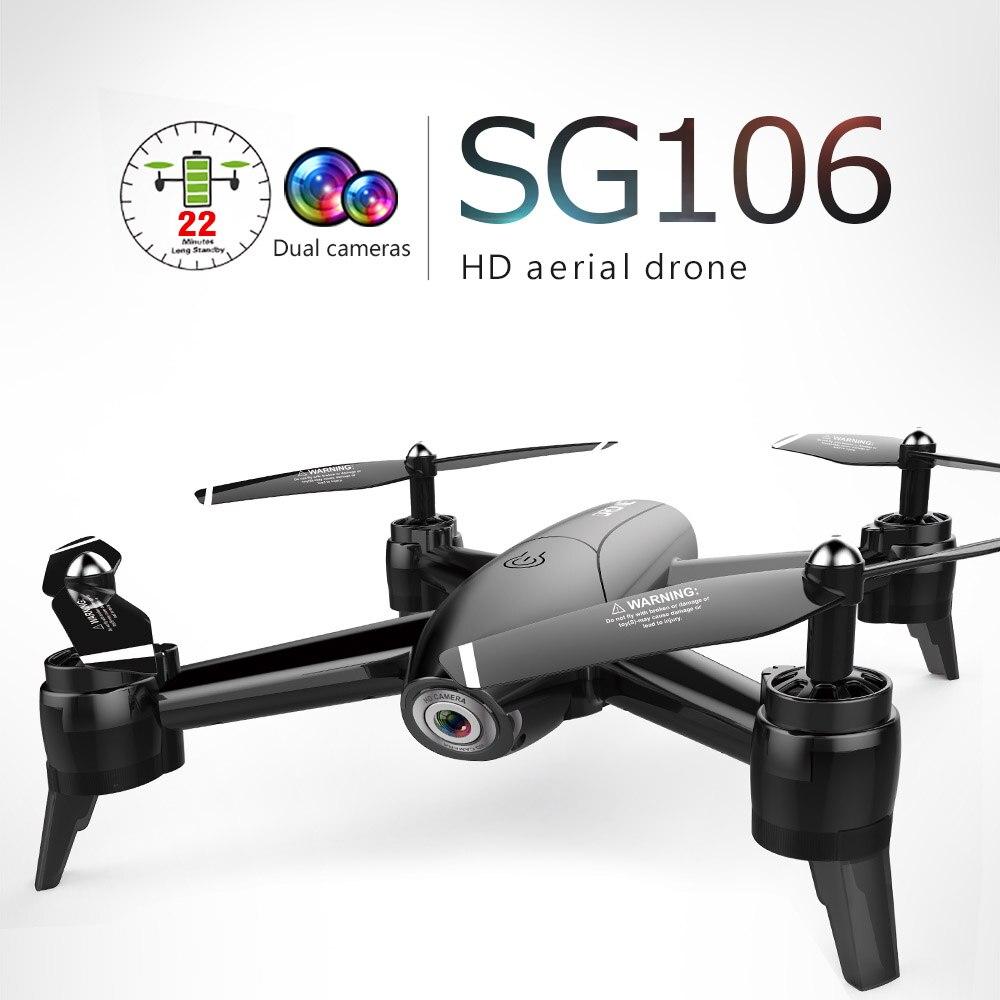 RC Quadcopter Dron De Fluxo Óptico HD 1080 P Câmera Dupla Aéreo em Tempo Real de Vídeo RC Drone RTF Drones Aeronaves Brinquedos criança Em Estoque Sg106