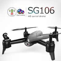 RC Quadcopter Optischen Fluss 1080P HD Dual Kamera Eders Echtzeit Luft Video RC Drone RTF Drohnen Flugzeuge Spielzeug kid In Lager Sg106