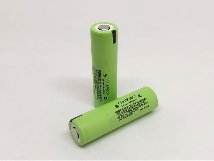 2pcs/lot New Original Battery For Panasonic CGR18650CG 18650 3.7V 2250mAh Rechargeable Lithium Batteries (CGR18650CG)