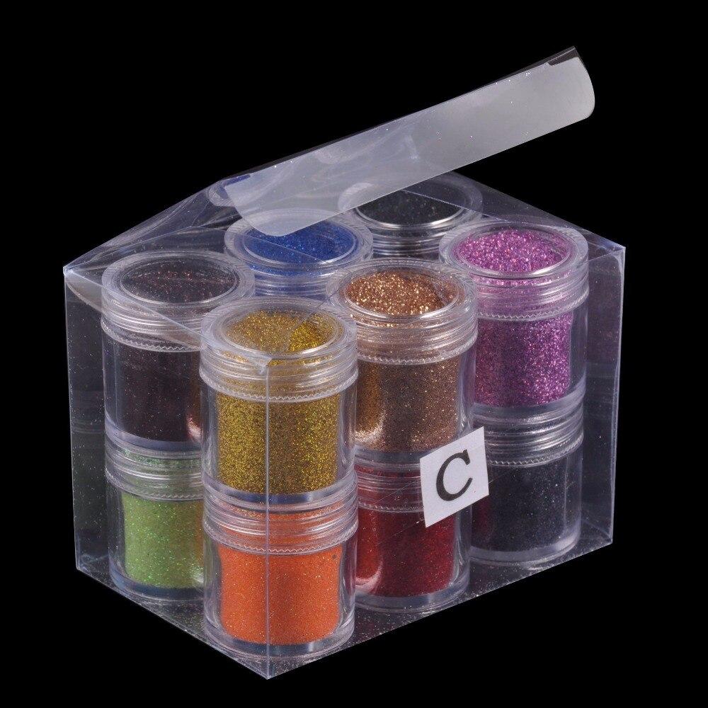 XNW Nail art polvo de acrílico y esmalte líquido pintura herramientas del clavo del brillo golpes manicura Nail art decoraciones