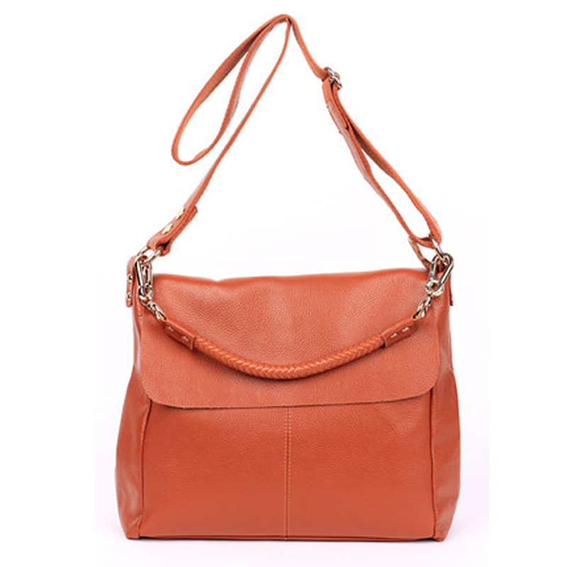High capacity ladies handbags genuine leather women messenger bag with high quality Fashion real cowhide shoulder bags #304-L 2015 new fashion style genuine leather business women messenger bags causal ladies handbags with high quality shoulder bag