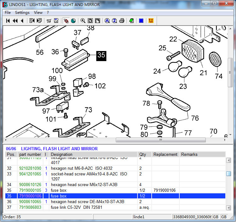 HTB1dx_OKXXXXXXrapXXq6xXFXXX6 linde forklift part fuse box 7919000106 electric truck 324 335 336 linde forklift fuse box location at fashall.co