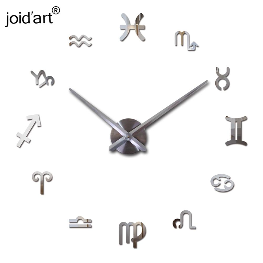 nový nástěnné hodiny křemen obývací pokoj diy hodiny moderní design hodinky horloge murale akrylové zrcadlo 3d samolepky
