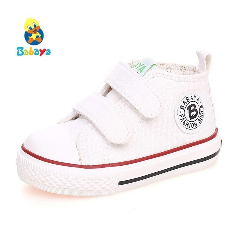 בייבי הנערה הנעליים בייבי גבוהה בד - נעלי תינוקות