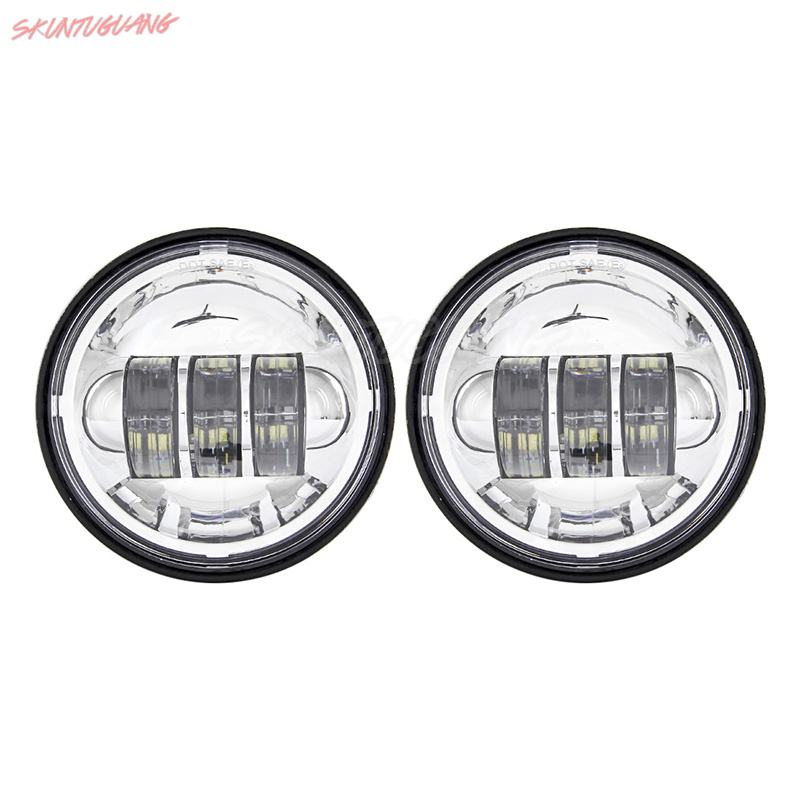 4 5 Inch LED Fog Lights Auxiliary Passing Lamp Spot Light For Harley Davidson Road King