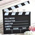 1PCS Classical Wooden Decorative  Director Video Scene Clapperboard TV Movie Clapper Board Film Slate Cut Prop  Party Supplies