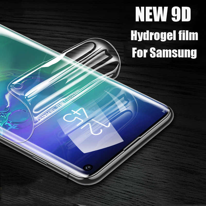 Neue 9D Hydrogel Film Screen protector Für Samsung Galaxy S10 S8 S9 plus S7 Rand Hinweis 8 9 A7 A8 plus 2018 Voll Curved Film