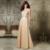 Champagne V-cuello de la Túnica de Encaje Madre De La Novia Vestidos de Madrina Vestido de Gasa Pantalones de Traje de Novia De Gasa Largo Vestido de Noche