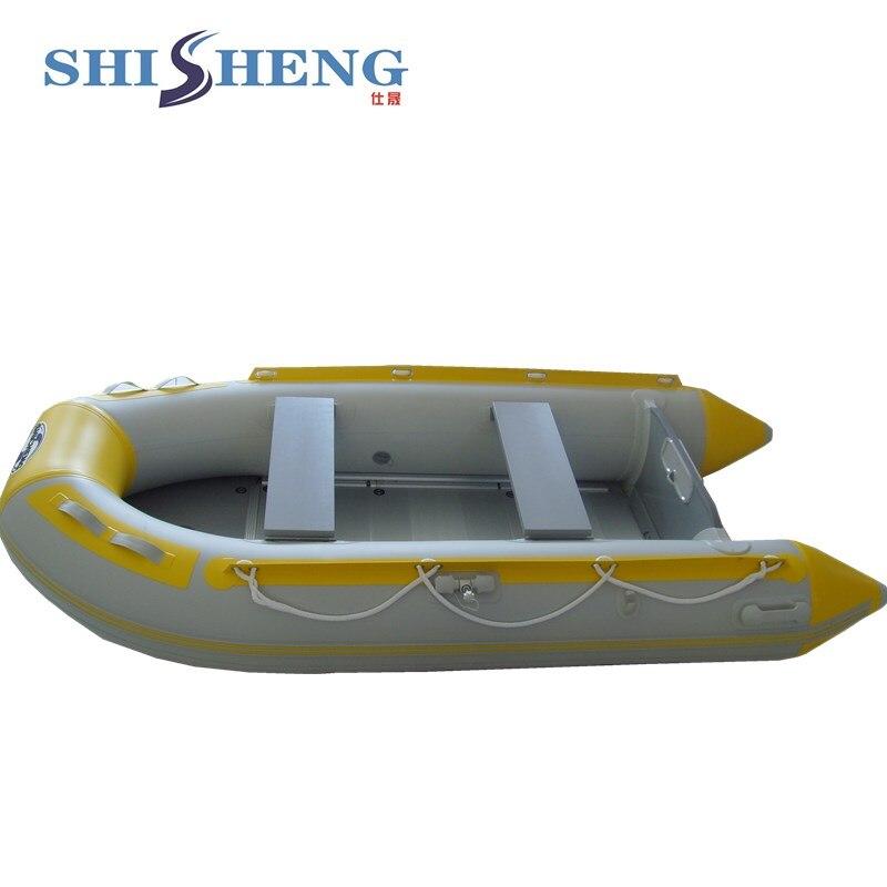 Chine petit bateau gonflable d'appât de pêche de contrôle de Sport de PVC avec le moteur hors-bord à vendre - 4