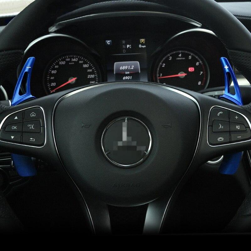 Carro-styling Volante Paddle Shift Paddle Shifters para Mercedes Benz 2015 2016 Classe C W205 C180L C200L C260L (não para AMG)