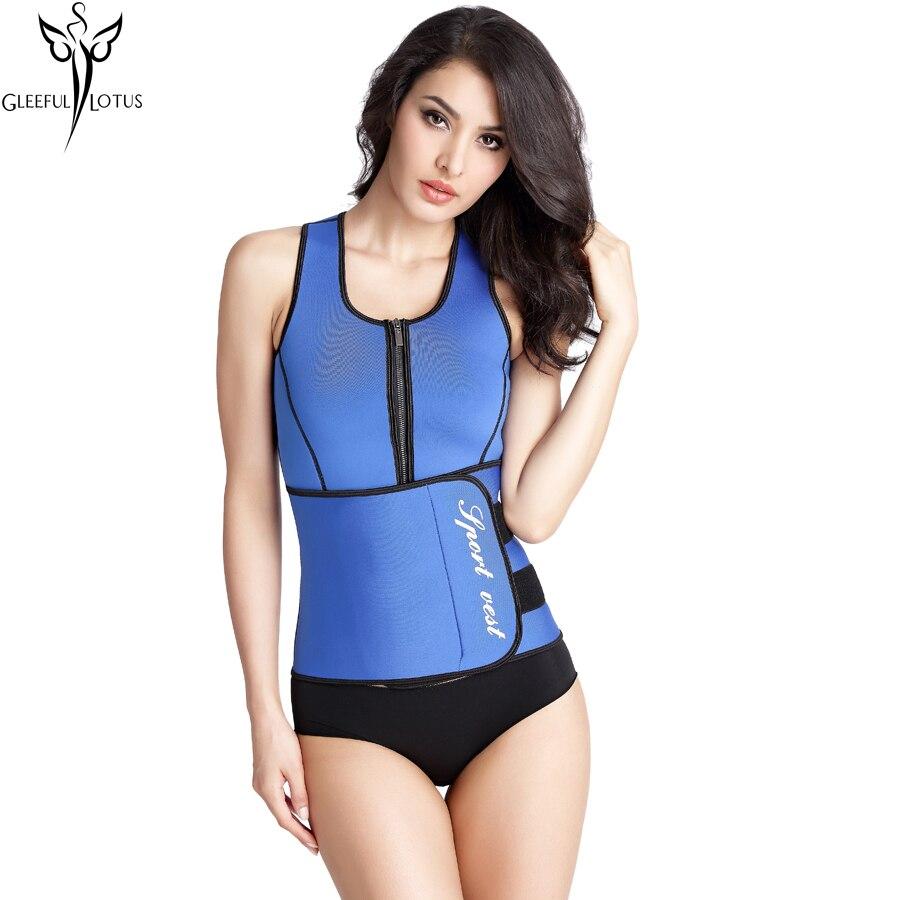 1688bf74bd Neoprene Sauna Waist Trainer Vest Hot Shaper Slim Workout Shaperwear Belly  Slimming Sheath Sweat Belt Fajas Body ...