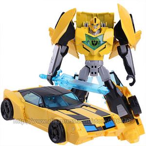 Image 3 - COOL Transformation Toys For Children Movie 5 Series Plastic ABS + Alloy Anime Action Figure Model Robot Car Toy Boy Kids Gift