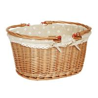 Rural Style Willow Rattan Woven Hand Basket Portable Storage Basket Fruit Flower Basket Gift Packing Basket For Home Picnic