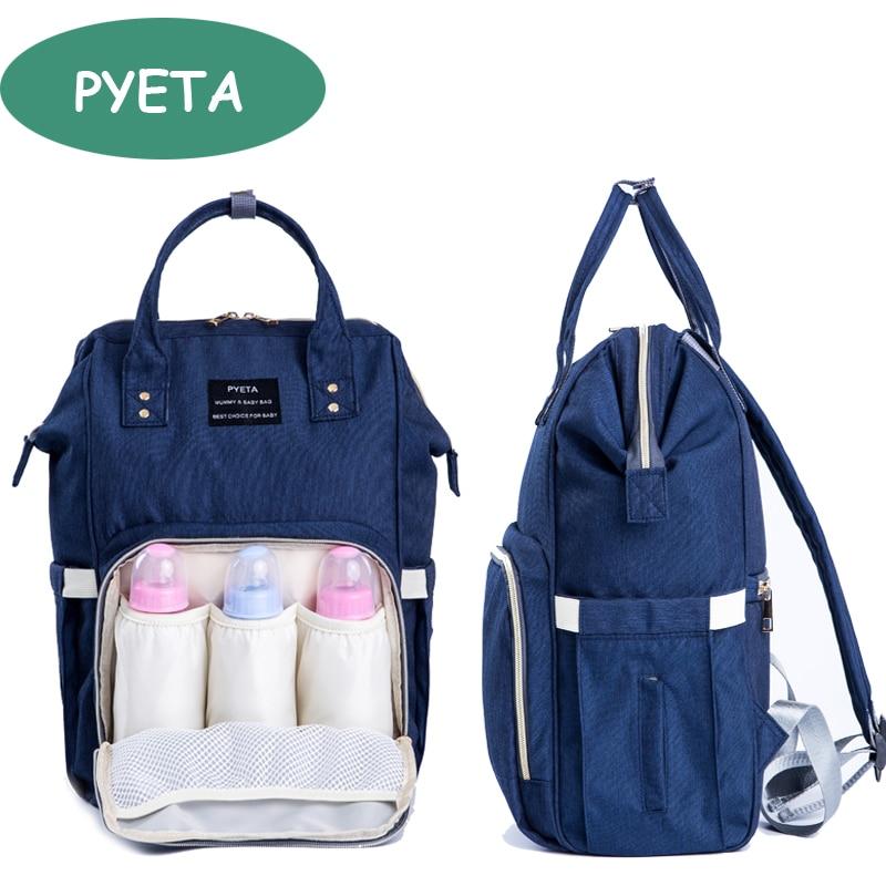 Bolsa de pañales para bebé PYETA Bolsa de bebé para mamá Bolsa de cochecito de viaje Mochila de pañales Bolsa de maternidad Bolsa para cuidado de bebés