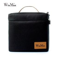 Winmax الأطعمة الكبيرة حفظ البيتزا تسليم حقيبة تبريد وجبة حقيبة للحفاظ على البرودة حقيبة حرارية العزل الجليد الظهر حزمة علب الاغذية أسود