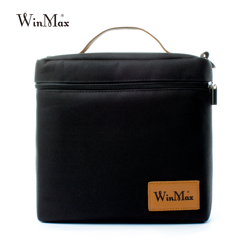 Winmax Large foods Keeping pizza delivery <font><b>ice</b></font> Cooler Bag meal cooler bag Thermal Bag Insulation <font><b>Ice</b></font> back <font><b>Pack</b></font> <font><b>lunch</b></font> box black image