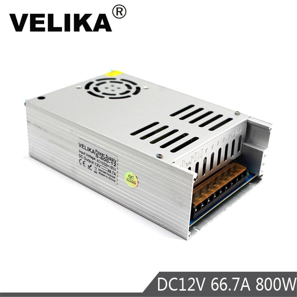 DC12V Power Supply 66 7A 800W Switch Driver Transformer 220v 110v AC to DC fonte 12V
